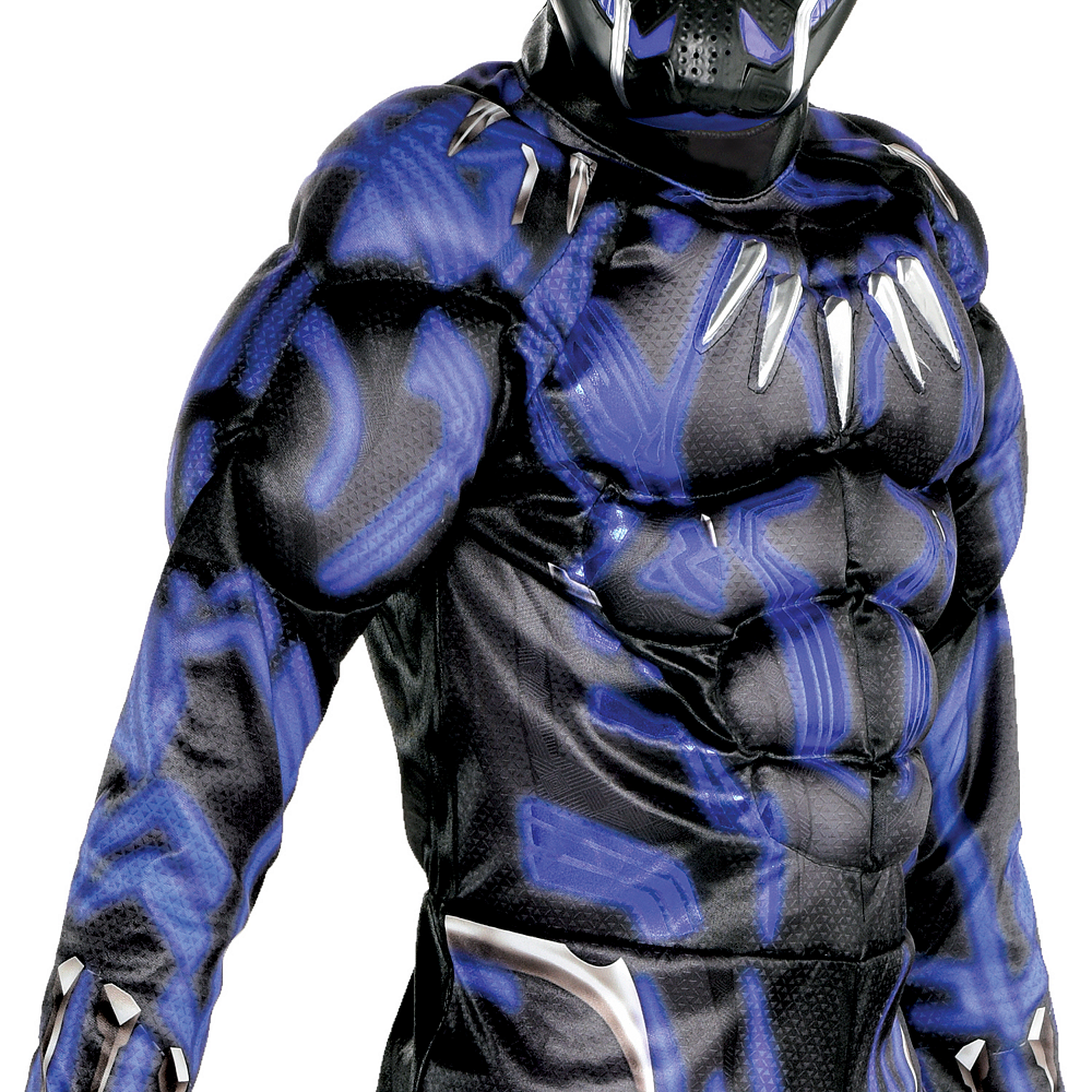 Boys Black Panther Muscle Costume - Black Panther Movie Image #3