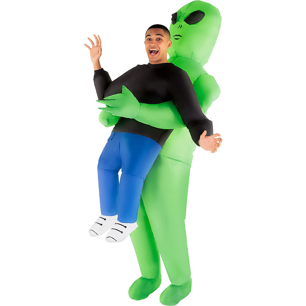 Adult Inflatable Alien Pick-Me-Up Costume Image #1