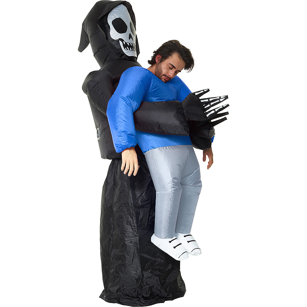 Adult Inflatable Grim Reaper Pick-Me-Up Costume Image #1