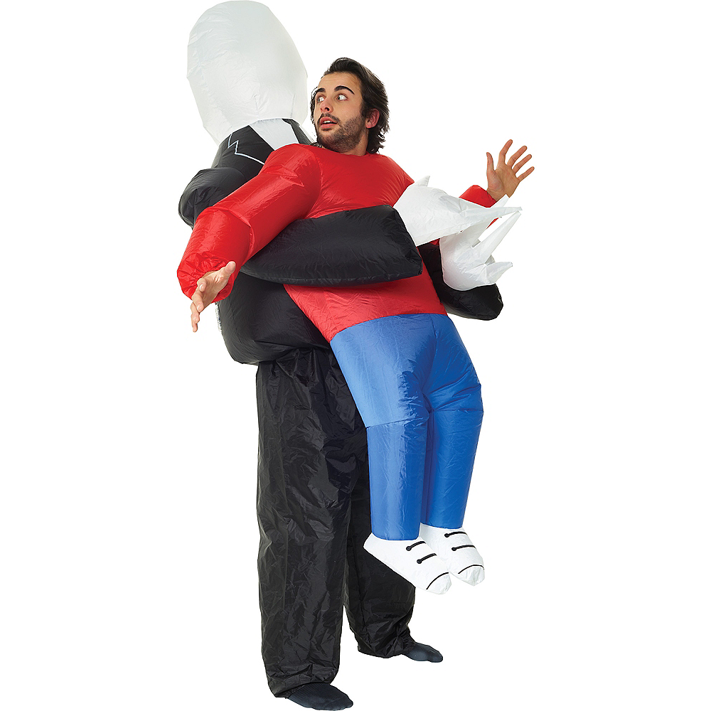 Adult Inflatable Slenderman Pick-Me-Up Costume Image #1