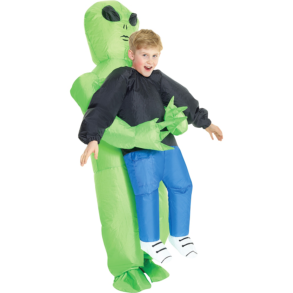 Child Inflatable Alien Pick-Me-Up Costume Image #1
