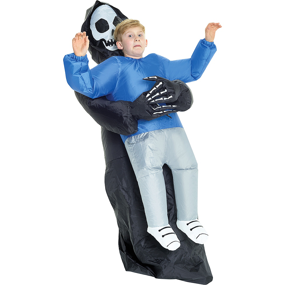 Child Inflatable Grim Reaper Pick-Me-Up Costume Image #1