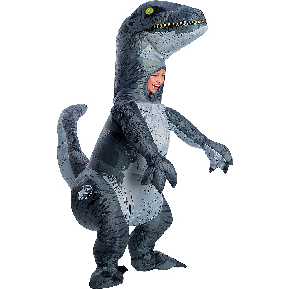 Child Inflatable Blue Velociraptor Costume - Jurassic World: Fallen ...