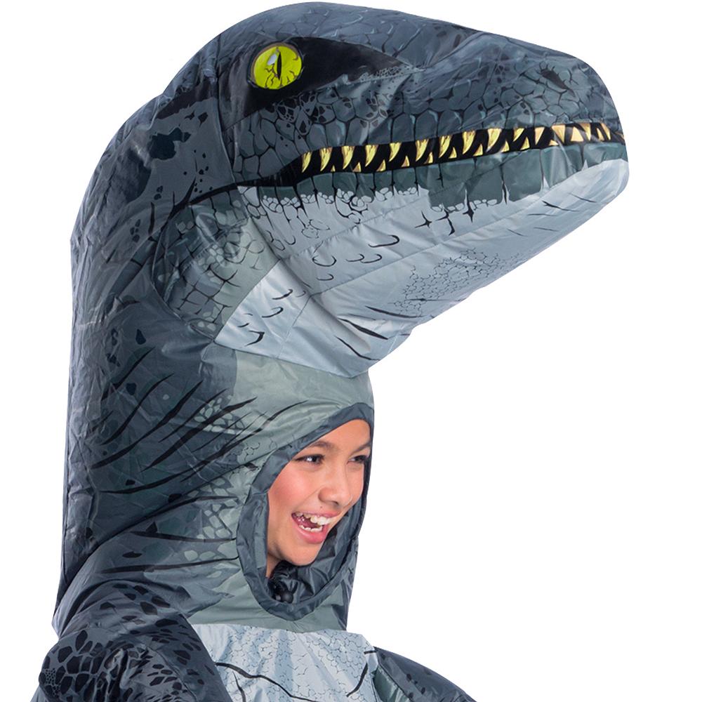 Child Inflatable Blue Velociraptor Costume - Jurassic World: Fallen Kingdom Image #2