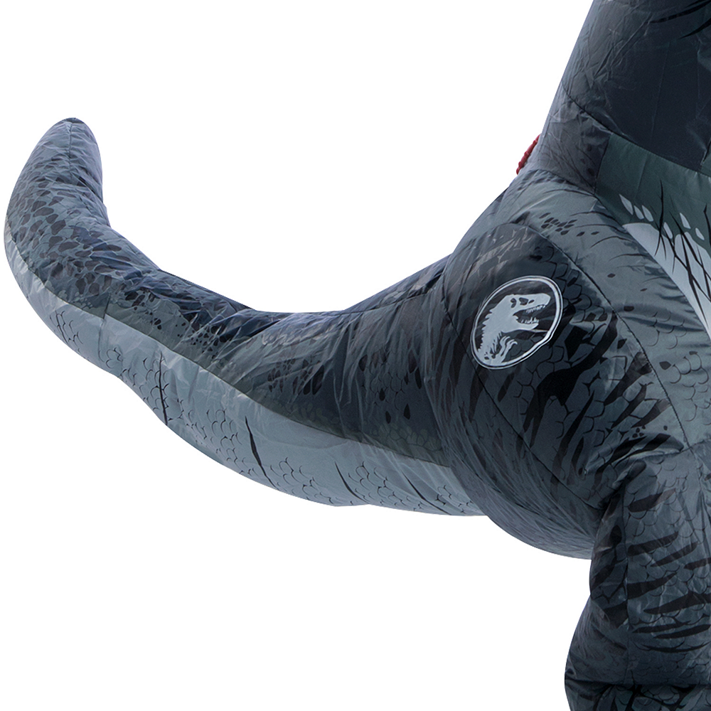 Child Inflatable Blue Velociraptor Costume - Jurassic World: Fallen Kingdom Image #3