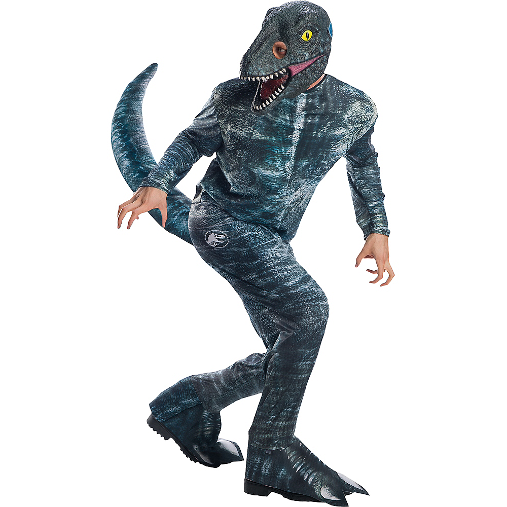 Mens Blue Velociraptor Costume - Jurassic World: Fallen Kingdom Image #1