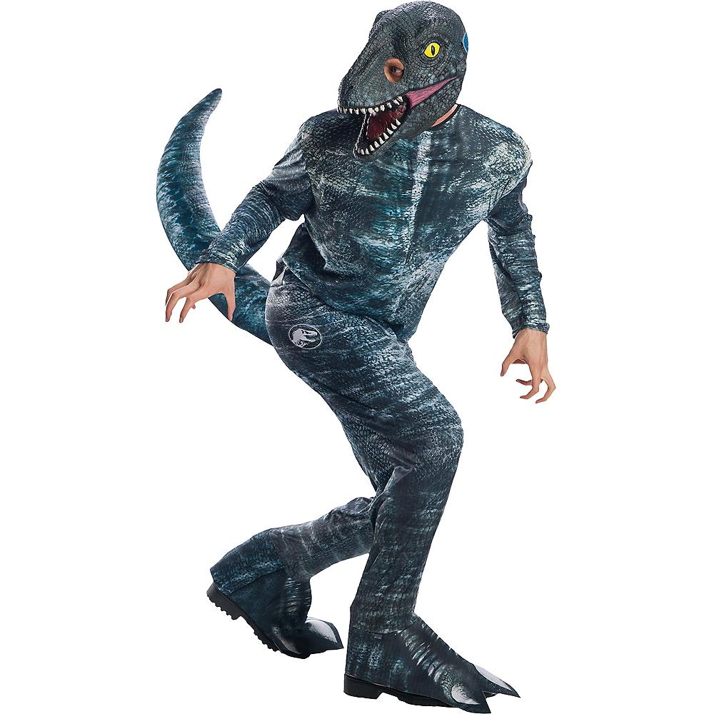Dinosaur World 66 X 54 Lined Curtains Tie Backs: Mens Blue Velociraptor Costume
