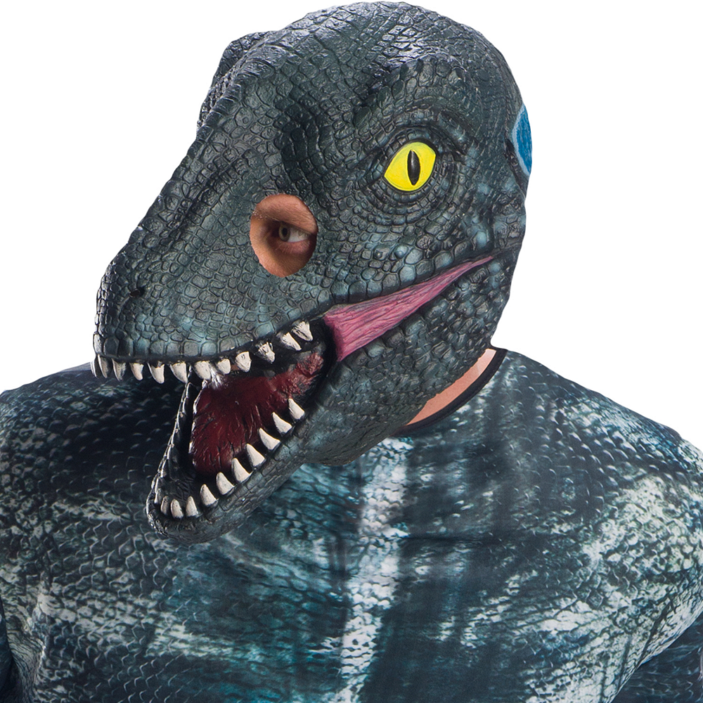 Mens Blue Velociraptor Costume - Jurassic World: Fallen Kingdom Image #2