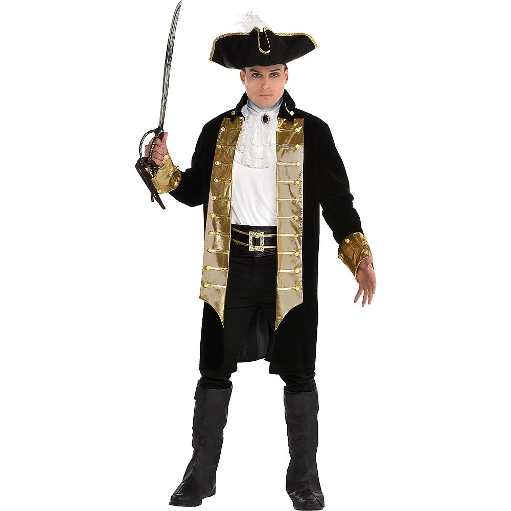Mens Treasure Captain Pirate Costume Image #1