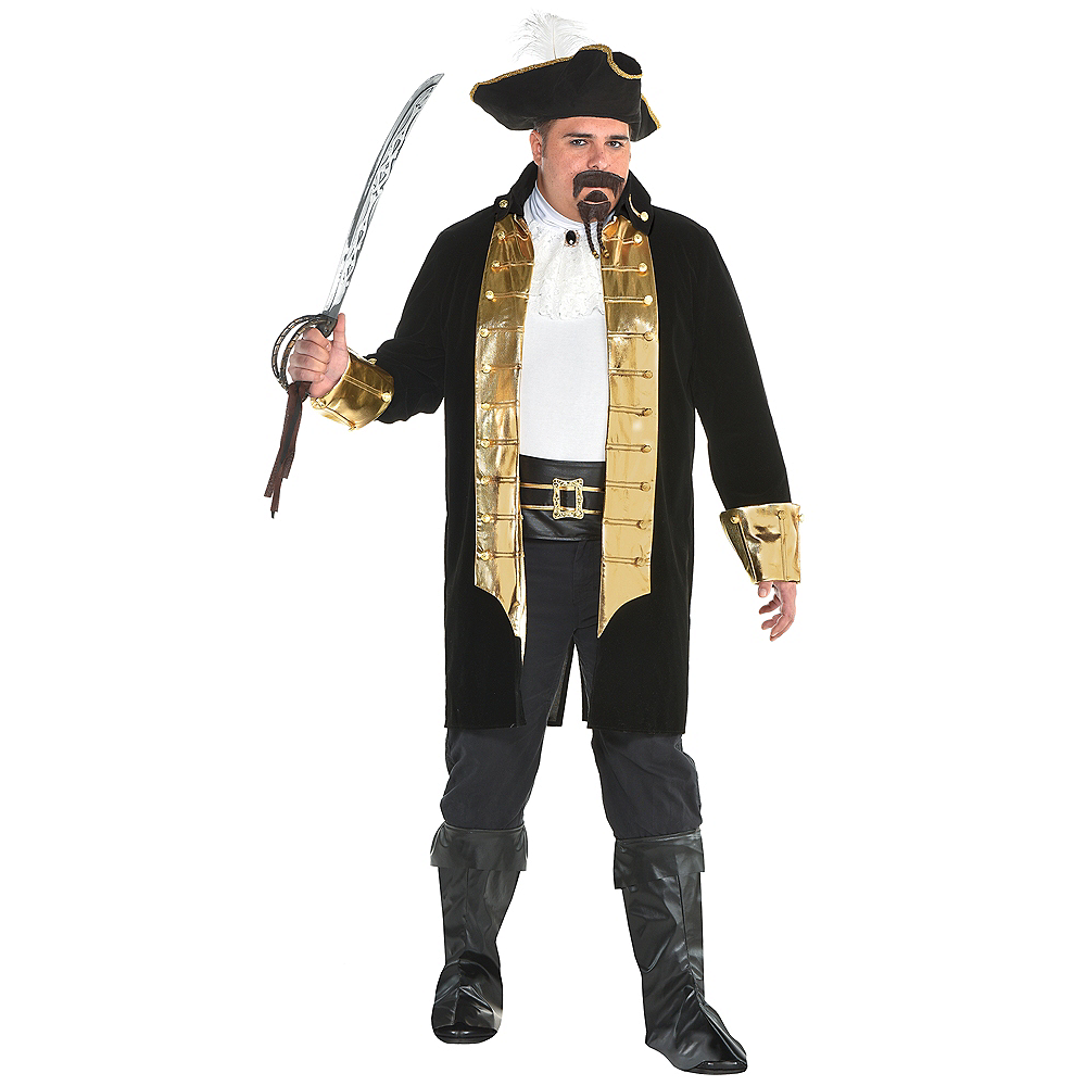 Mens Treasure Captain Pirate Costume Plus Size Image #1