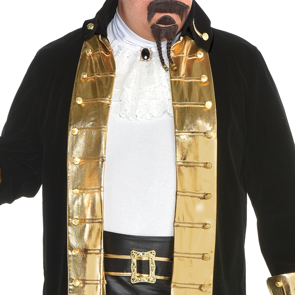 Mens Treasure Captain Pirate Costume Plus Size Image #3