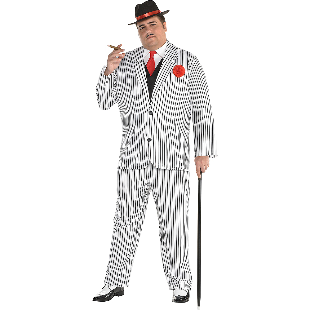 Nav Item for Mens Big Gangsta Costume Plus Size Image #1