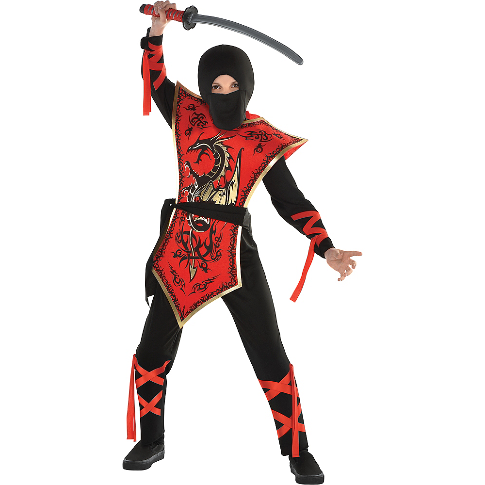 Boys Ninja Assassin Costume Image #1