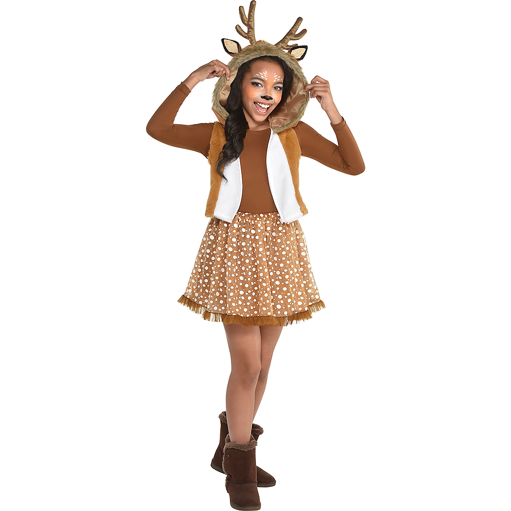 Nav Item for Girls Oh Deer Costume Image #1
