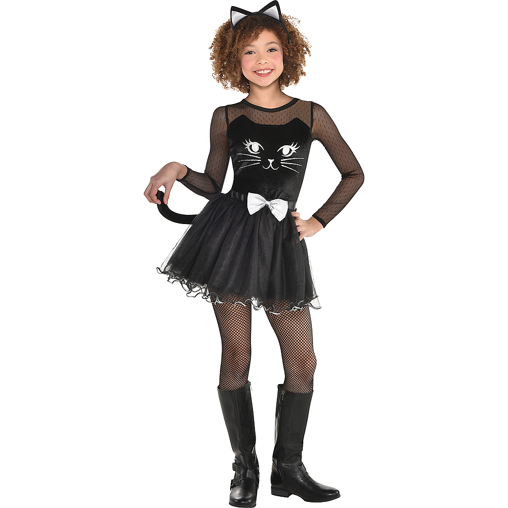 Girls Kitty Kat Costume Image #1