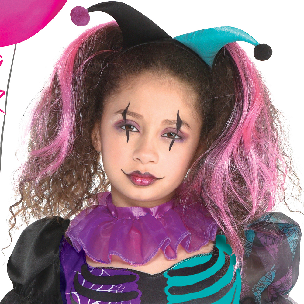Girls Haunted Harlequin Costume Image #2