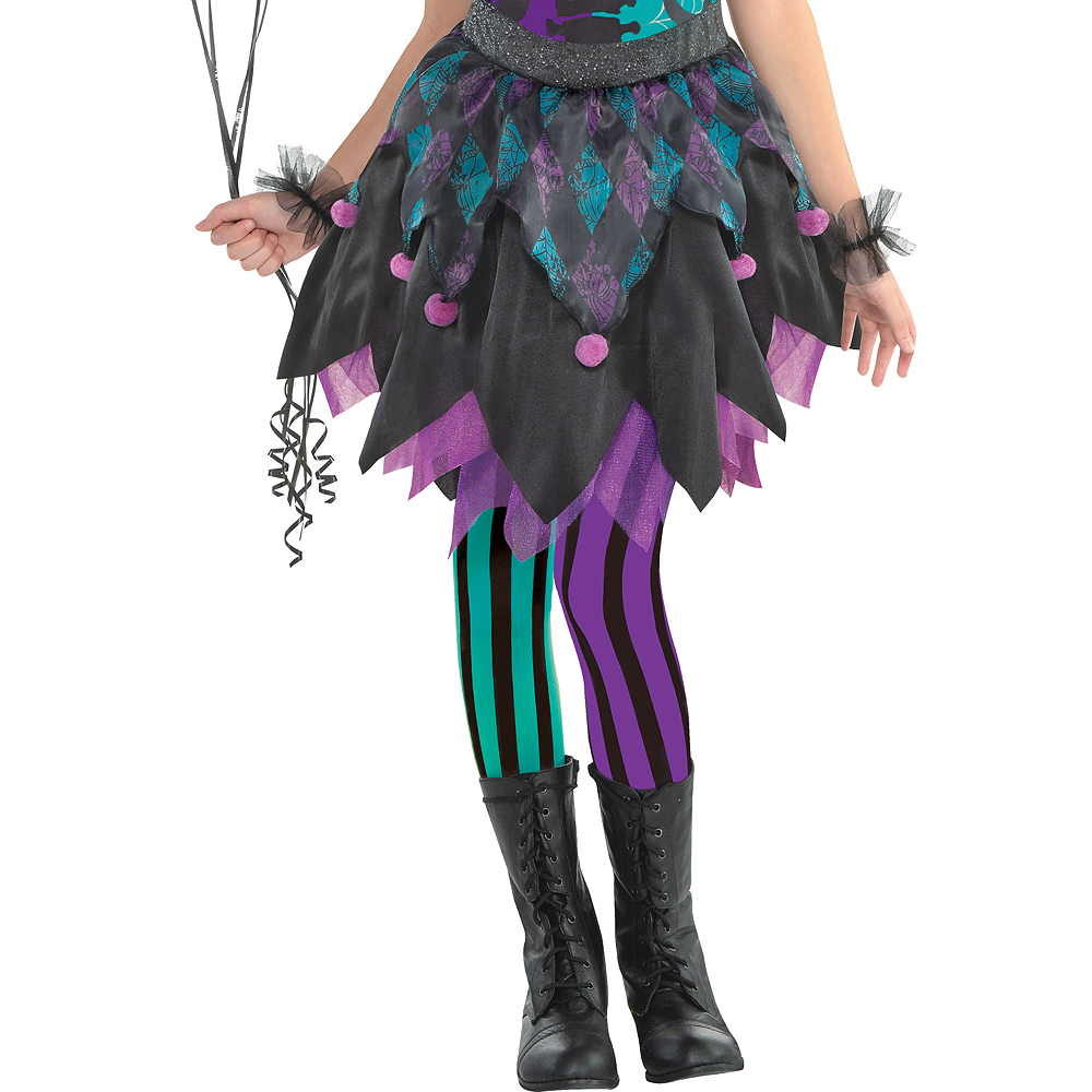 Girls Haunted Harlequin Costume Image #4