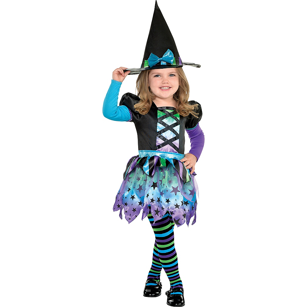 Nav Item for Girls Spell Caster Witch Costume Image #1