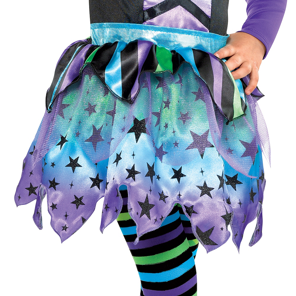 Nav Item for Girls Spell Caster Witch Costume Image #4