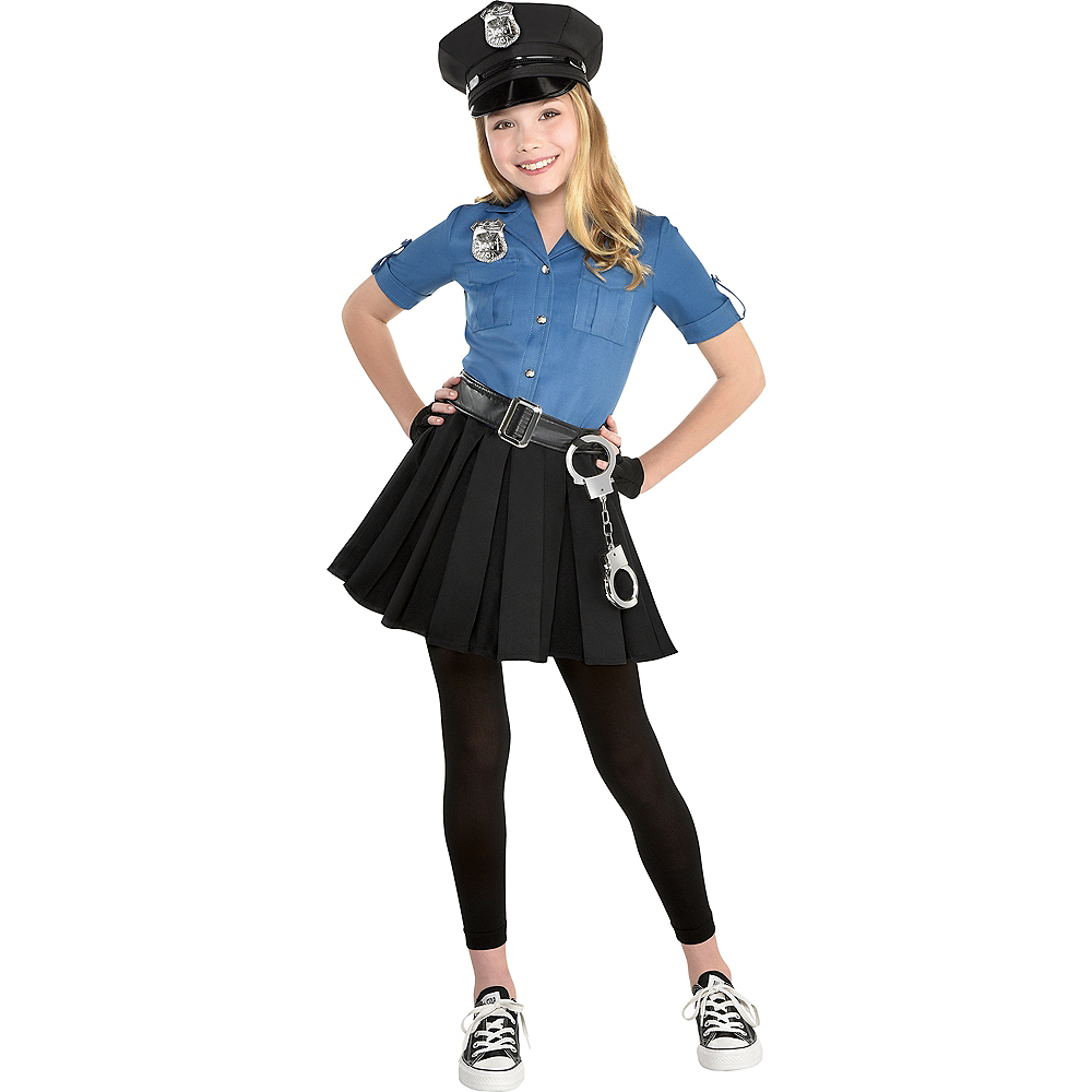 Girls Officer Cutie Cop Costume Image #1