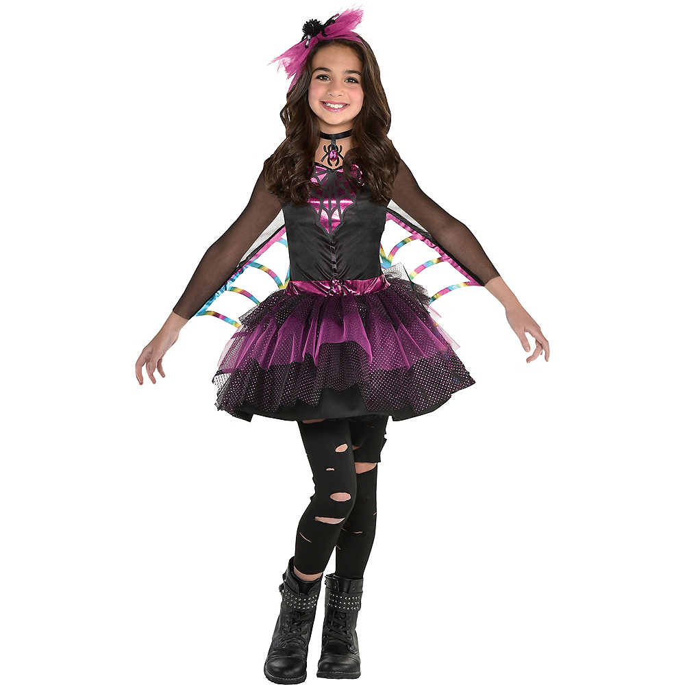 Girls Miss Wicked Web Spider Costume Image #1