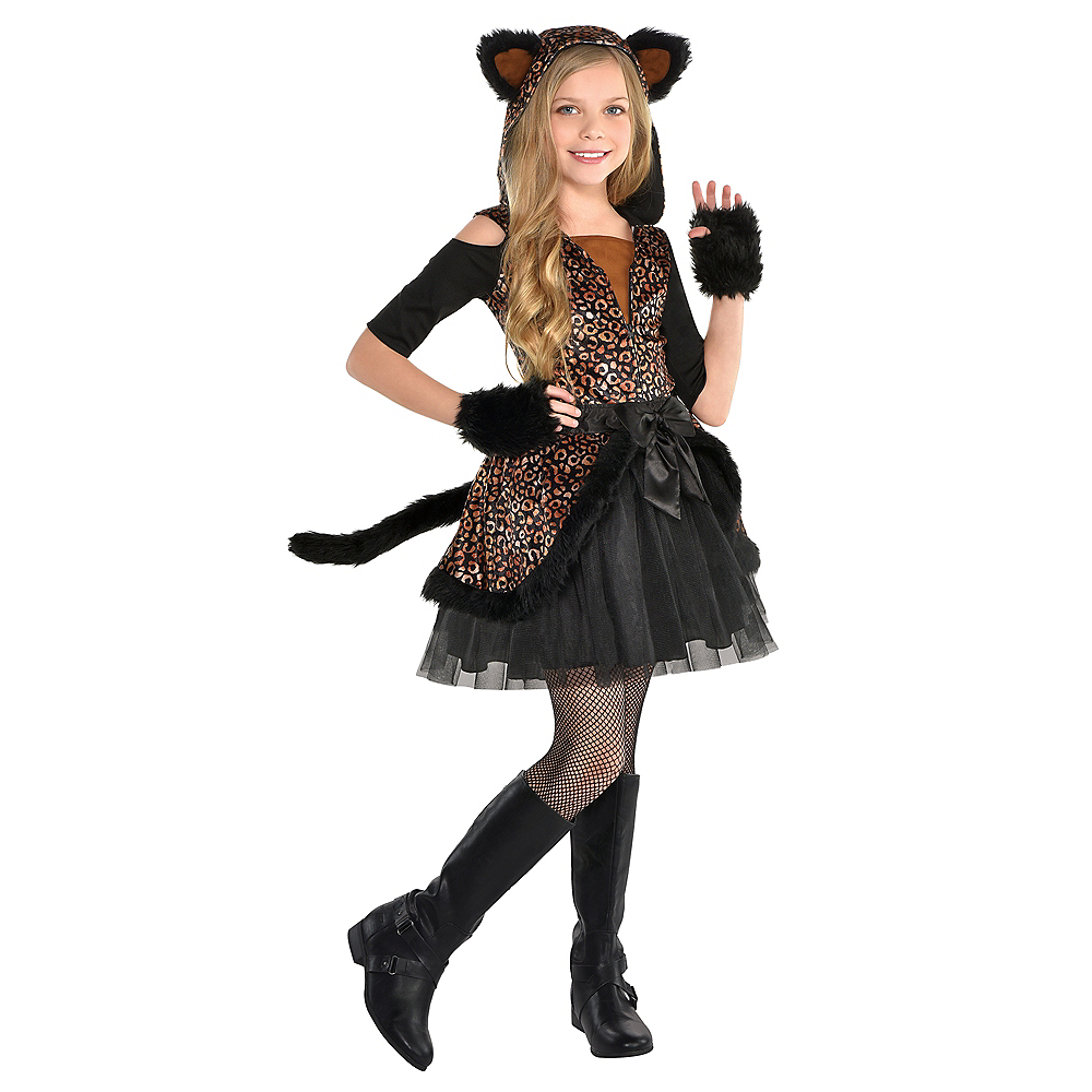 Girls Spot On Leopard Costume Image #1