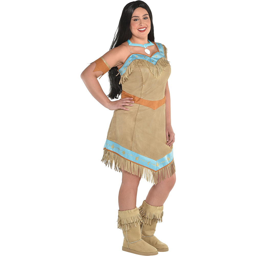 575ee814e54 Nav Item for Womens Pocahontas Costume Plus Size - Pocahontas Image  1 ...