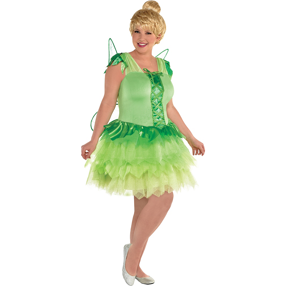 Womens Tinker Bell Costume Plus Size - Peter Pan Image #1