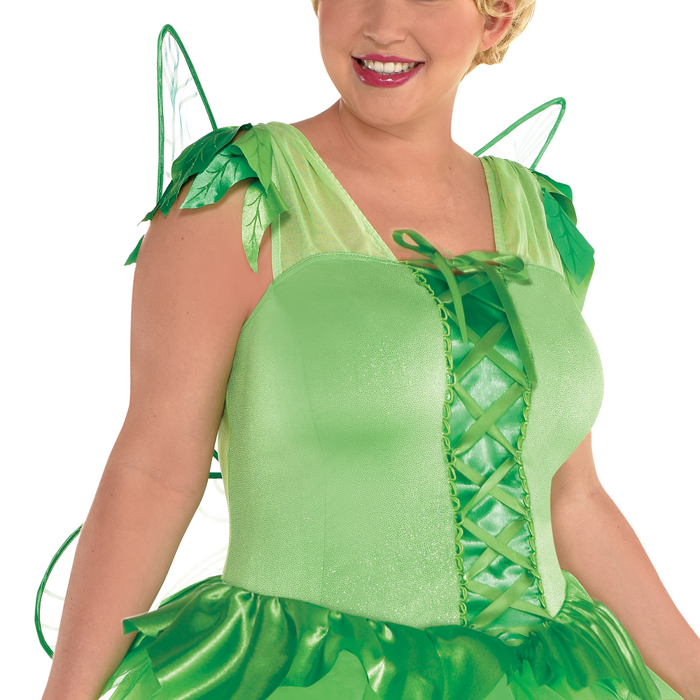 Womens Tinker Bell Costume Plus Size - Peter Pan Image #2