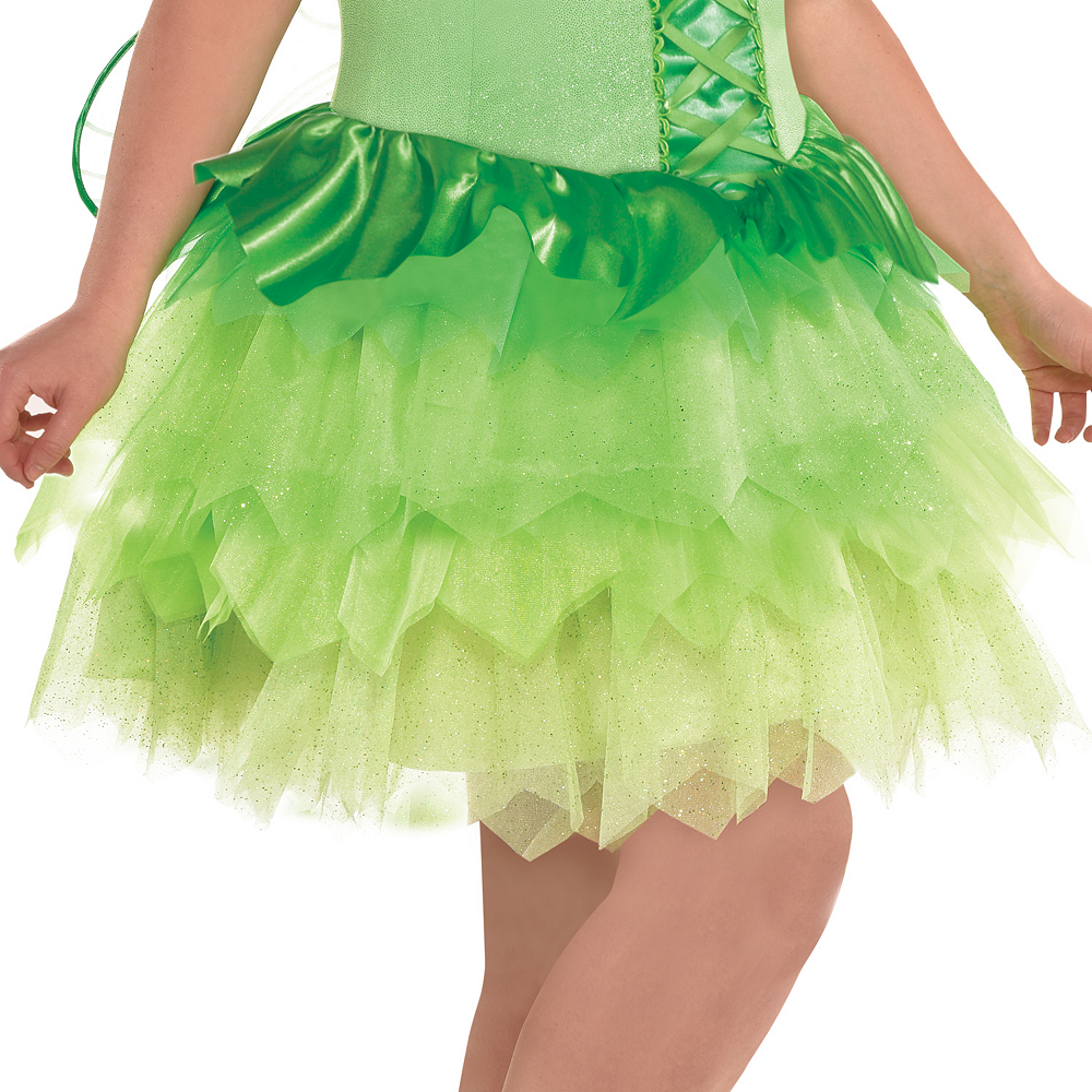 Womens Tinker Bell Costume Plus Size - Peter Pan Image #3