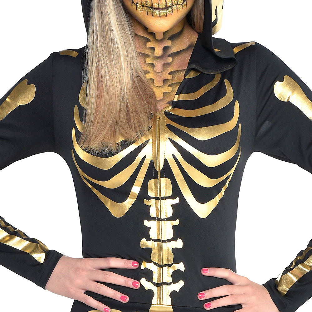 Womens 24 Carat Bones Skeleton Costume Image #2