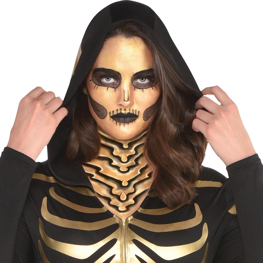 Womens 24 Carat Bones Skeleton Costume Plus Size Image #2