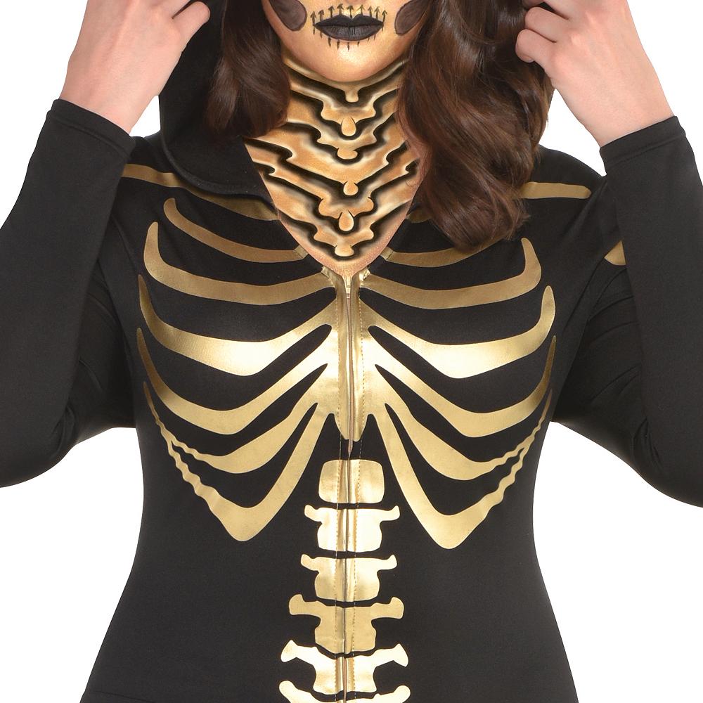 Womens 24 Carat Bones Skeleton Costume Plus Size Image #3
