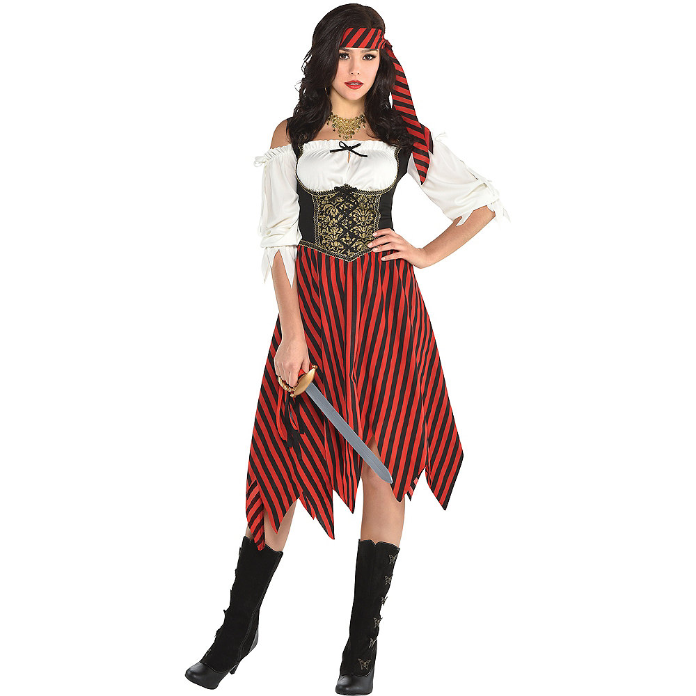 Nav Item for Womens Beauty Pirate Costume Image #1