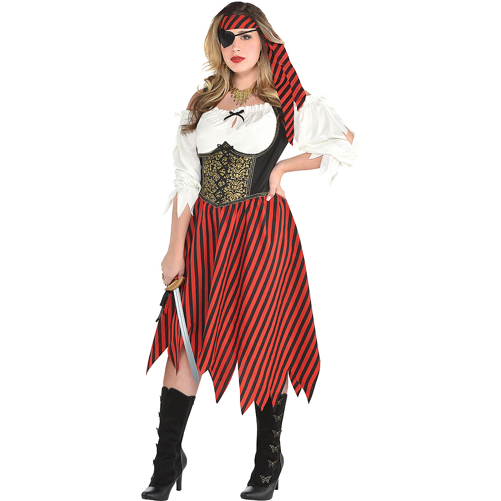 Womens Beauty Pirate Costume Plus Size Image #1