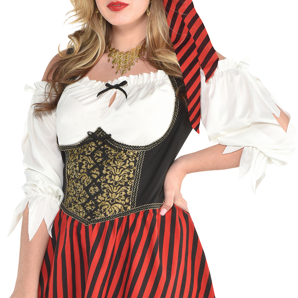 Womens Beauty Pirate Costume Plus Size Image #2