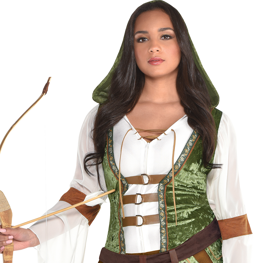Womens Robin Hood Huntress Costume Plus Size Image #2