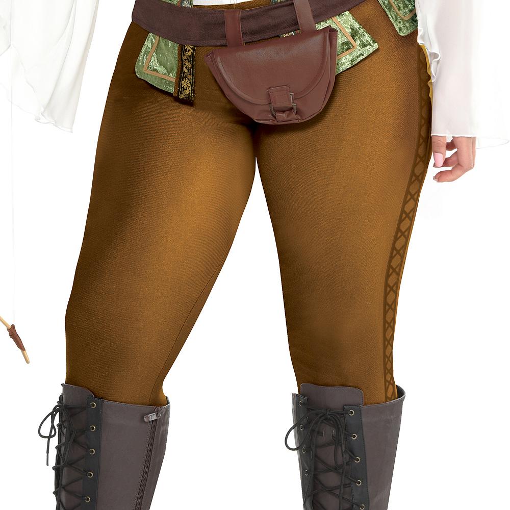 Womens Robin Hood Huntress Costume Plus Size Image #3