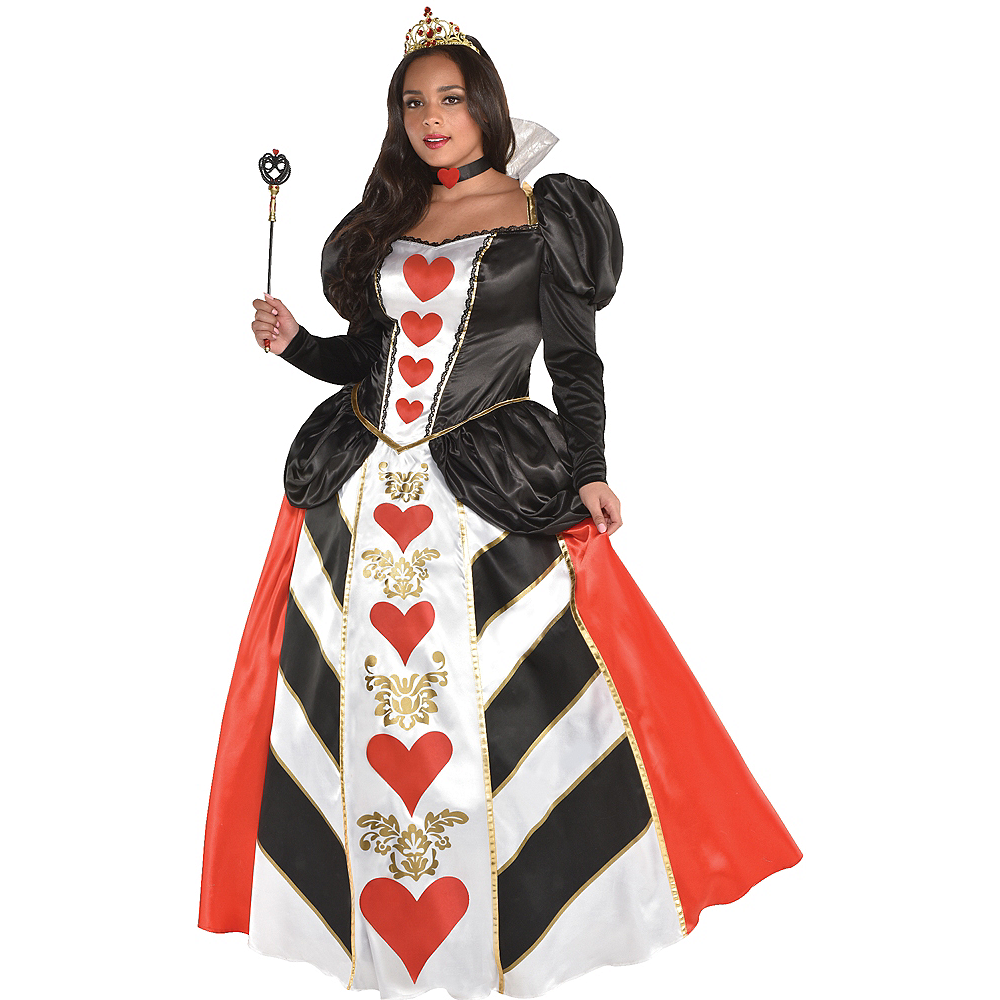 nav item for womens red queen costume plus size image 1