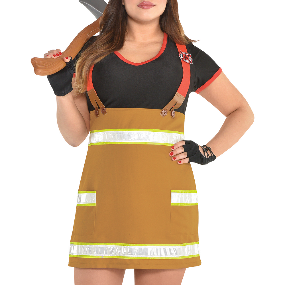 Womens Sexy Firefighter Costume Plus Size Image #3