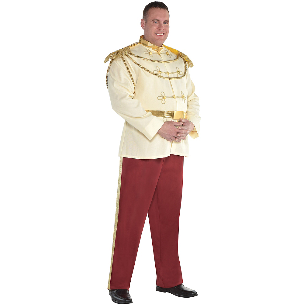 Nav Item for Mens Prince Charming Costume Plus Size - Cinderella Image #1