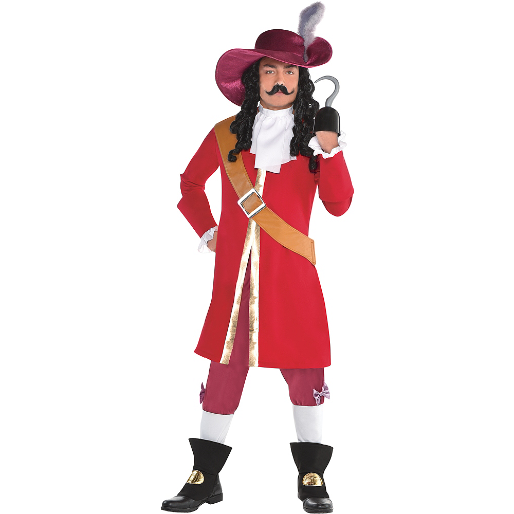 Mens Captain Hook Costume - Peter Pan Image #1