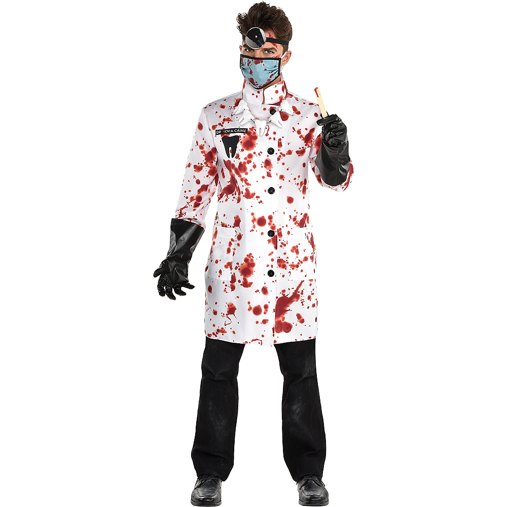 Mens Demented Dentist Costume Image #1