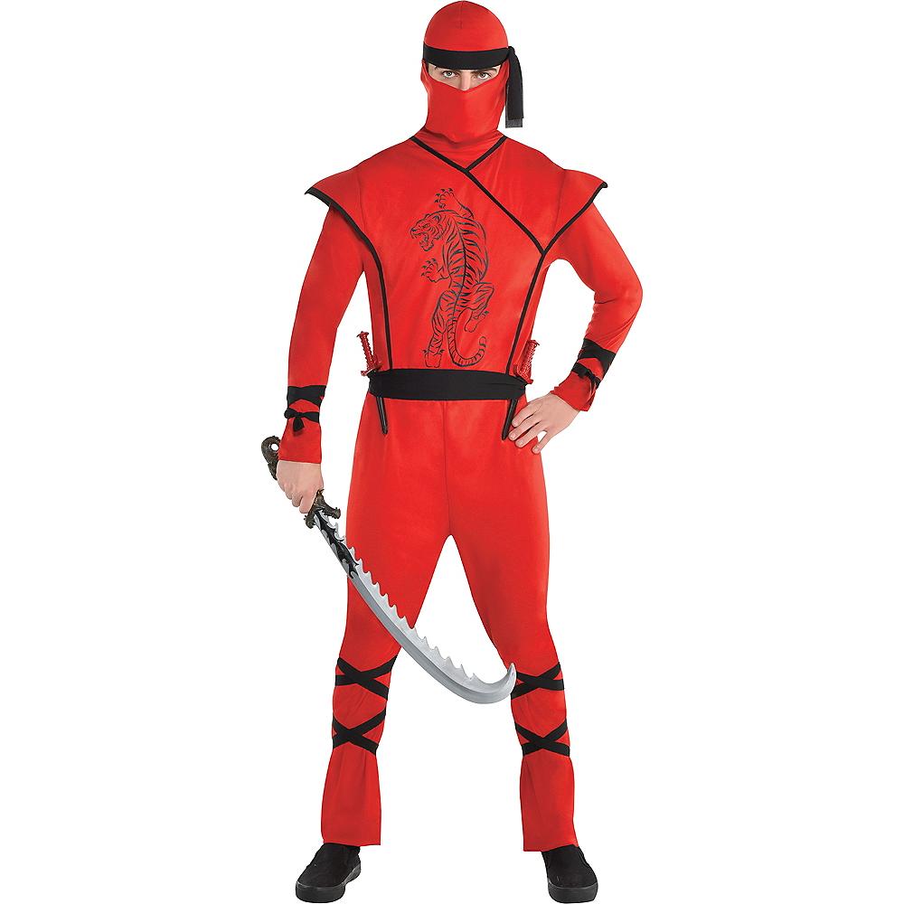 Mens Red Ninja Costume Image #1
