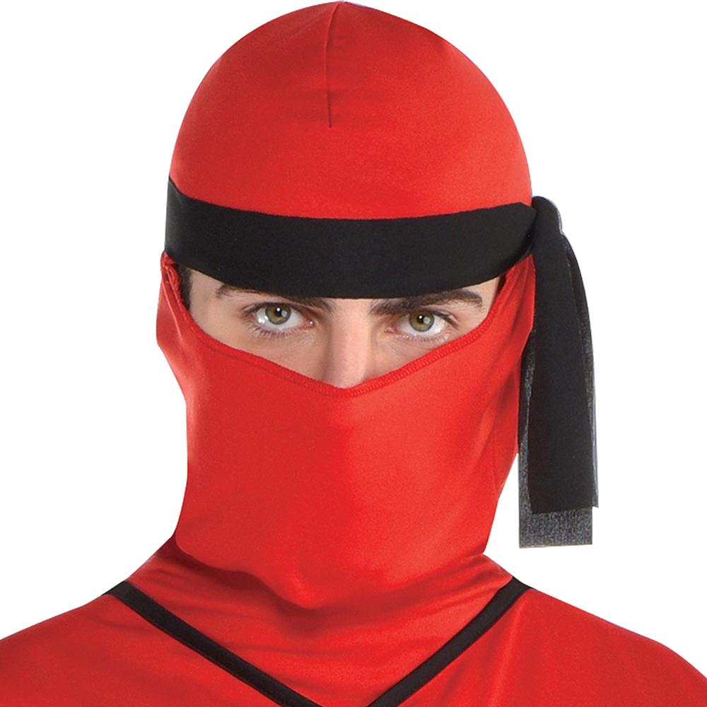 Mens Red Ninja Costume Image #2