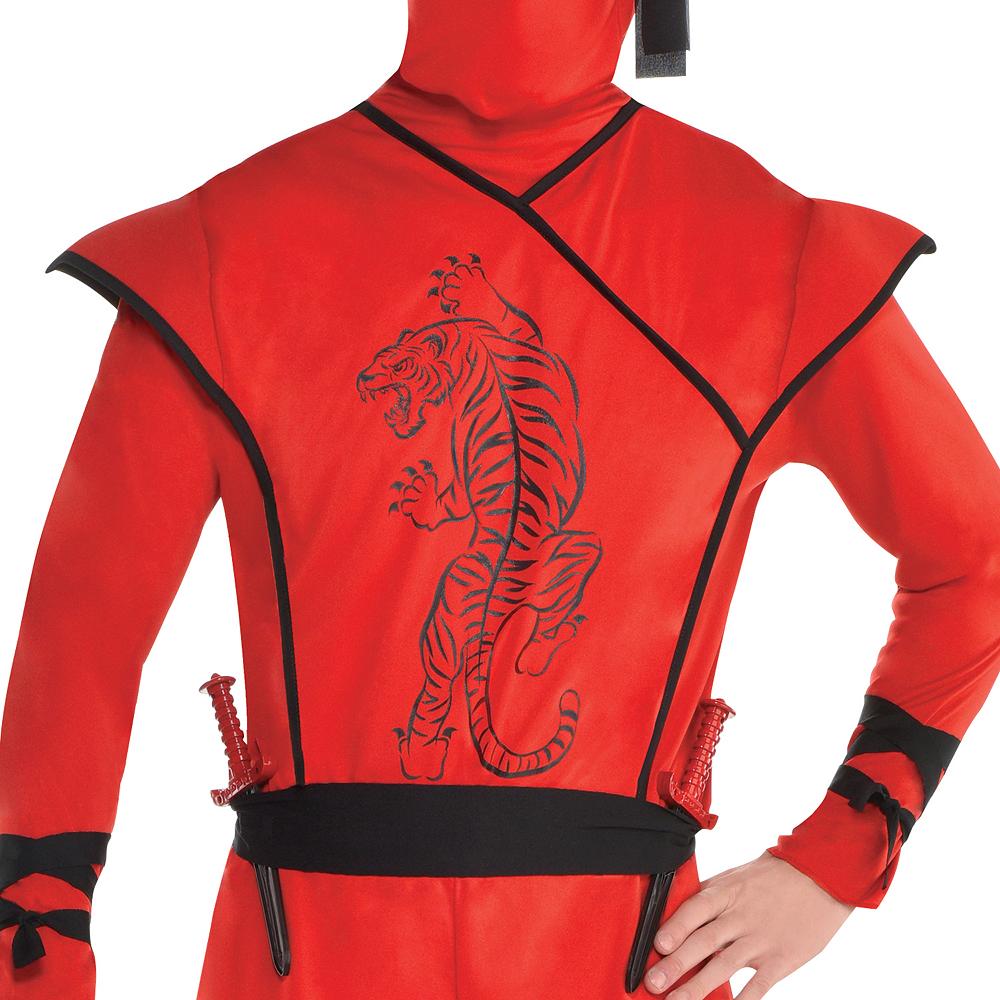 Mens Red Ninja Costume Image #3