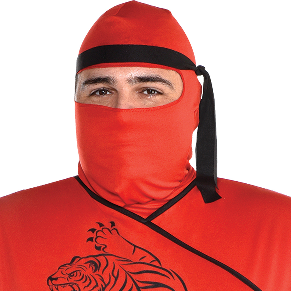 Mens Red Ninja Costume Plus Size Image #2