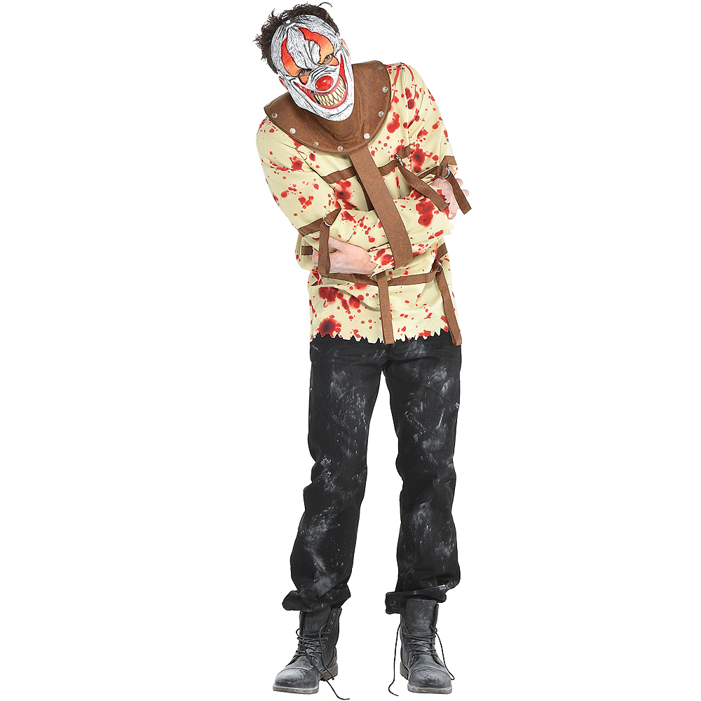 Mens Fun House Psycho Clown Costume Image #1