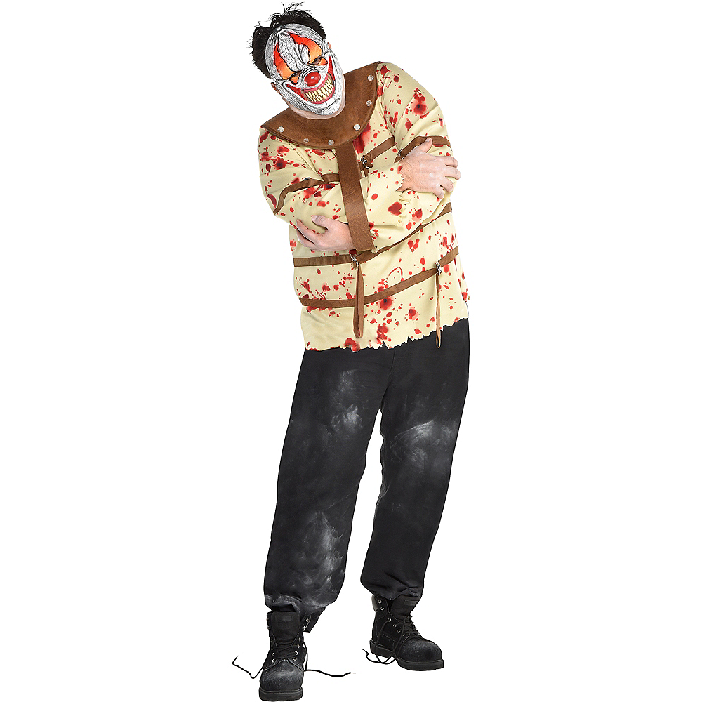 Nav Item for Mens Fun House Psycho Clown Costume Plus Size Image #1