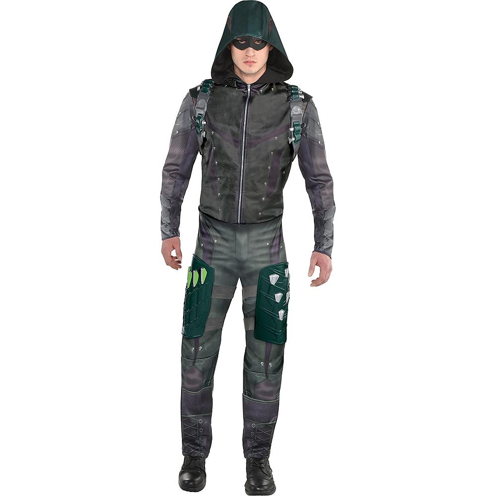 Mens Green Arrow Costume Image #1